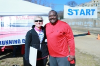 Mary Lou Harris, Capital 10-Miler Race Director with John Brathwaite, Georgetown 10-Miler Race Director