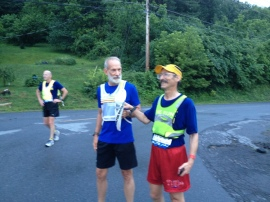 'Miles' passes to Joe Church, running Leg 270