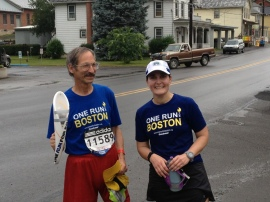 Grobman with Megan Capuano, Leg 268 Runner