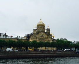 St. Isaac's Orthodox Church viewed from Lt. Schmidt's Embankment