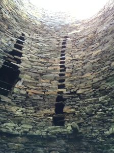 Interior wall Mousa Broch