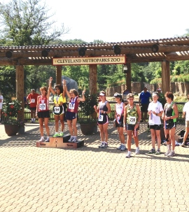 Running with the big dogs. In 1st place on the AG podium is Jeannie Rice, fastest 66 yr. old Female marathoner in US, with Nancy Rollins, a decorated masters runner who placed 2nd in AG at Boston this year. Keep looking to the right, to the right - and there I am in 7th place just proud to be in the top 10.