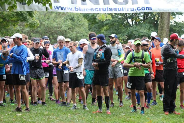 An intense group at the start while I'm lined up in the back of the pack.